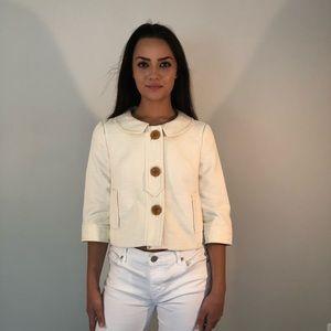 Ann Taylor Creme Colored Jacket Sz S
